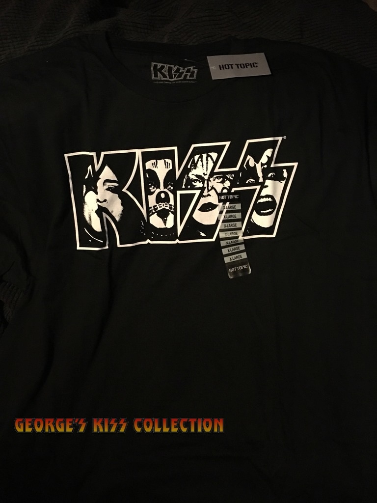kiss faces logo shirt in georges kiss collection