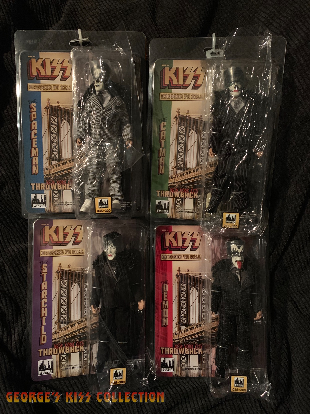 The Demon KISS 8 Inch Action Figures Dressed To Kill Re-Issue Series